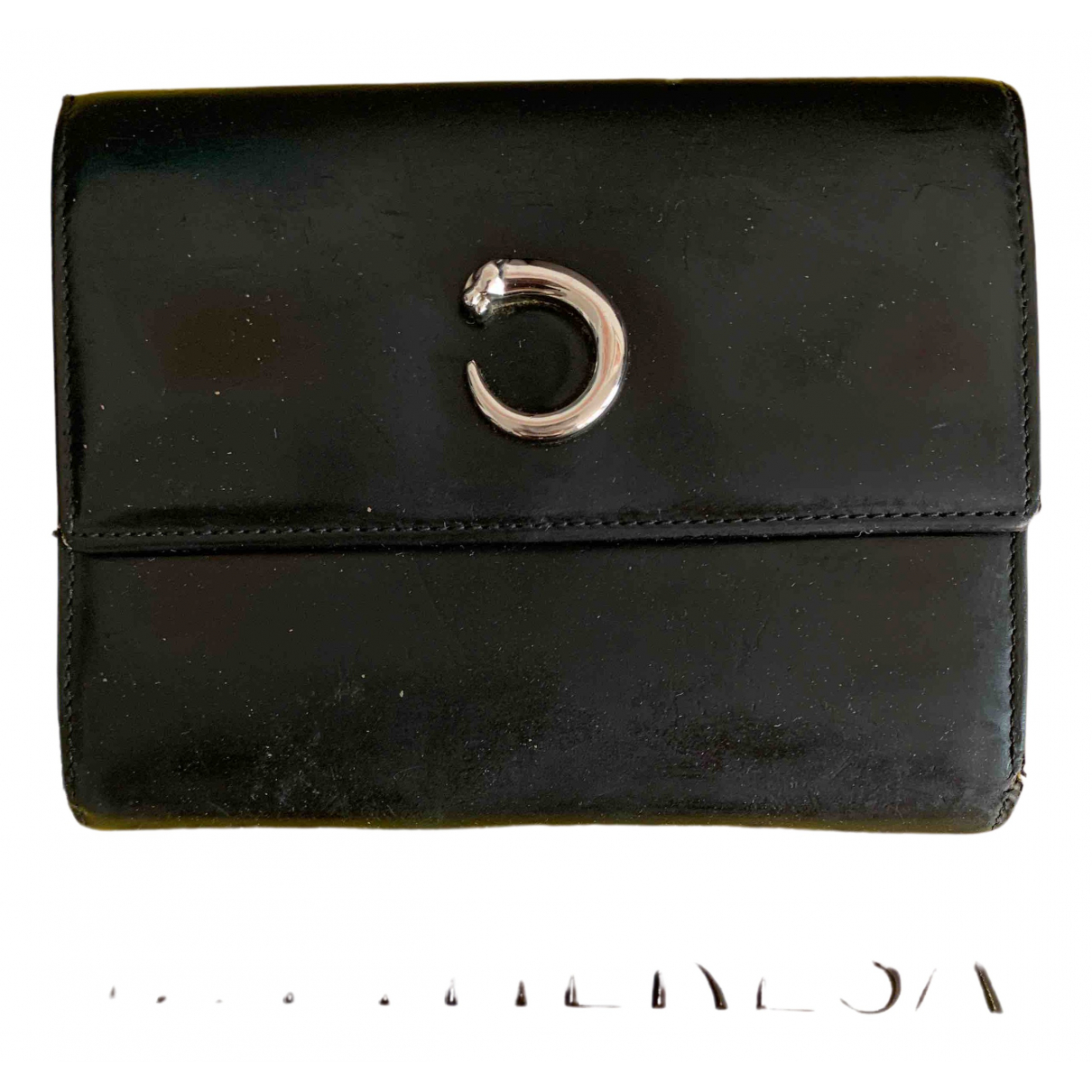 Cartier \N Black Leather Purses, wallet & cases for Women \N