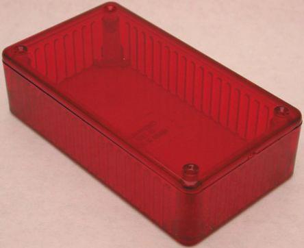 Hammond 1591, Red Polycarbonate Enclosure, IP54, 191 x 110 x 57mm