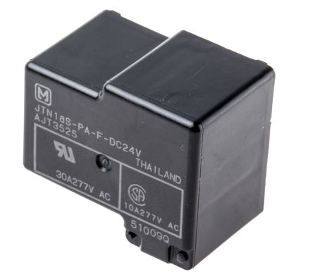 Panasonic , 24V dc Coil Non-Latching Relay SPNO, 30A Switching Current PCB Mount