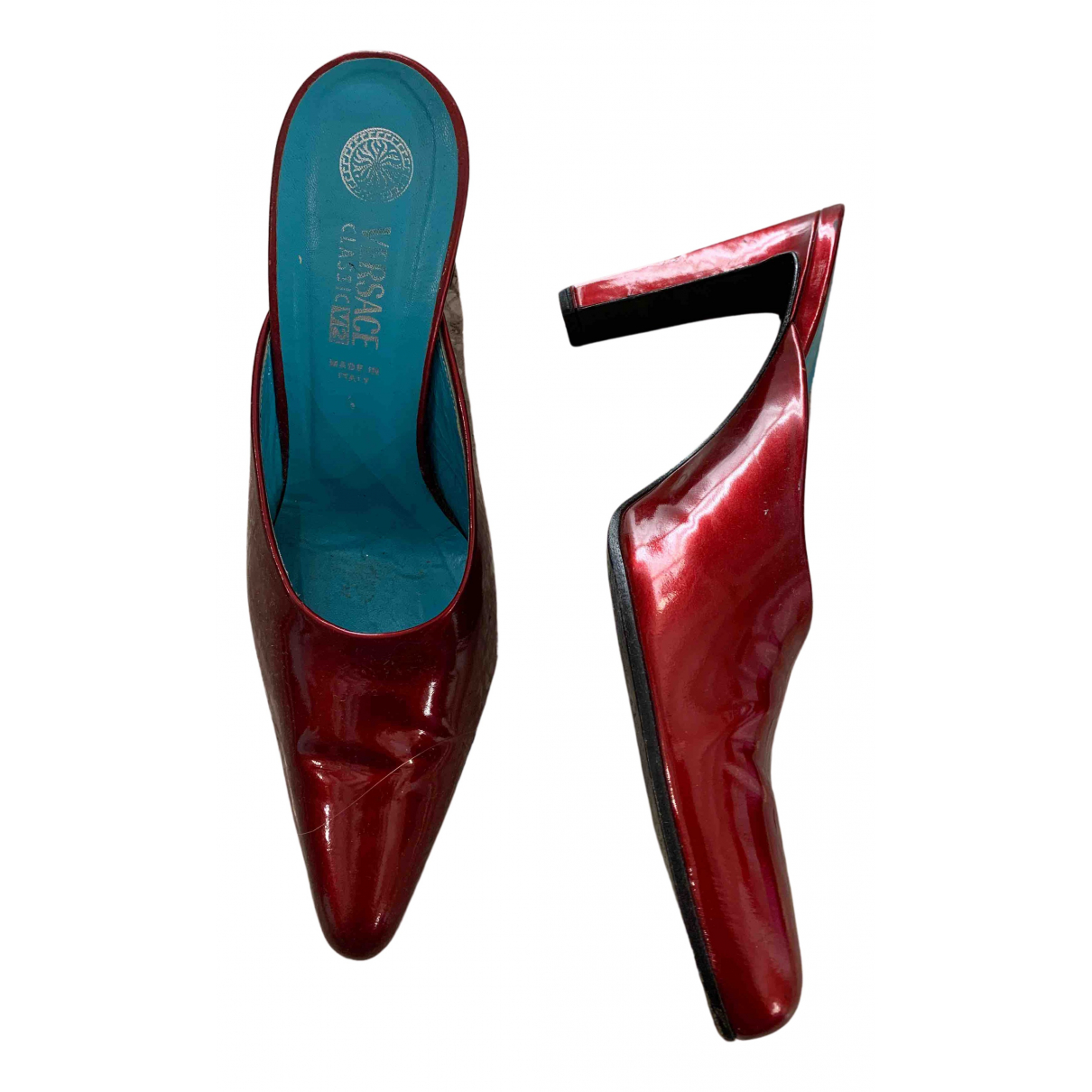 Versace N Red Patent leather Sandals for Women 37 EU
