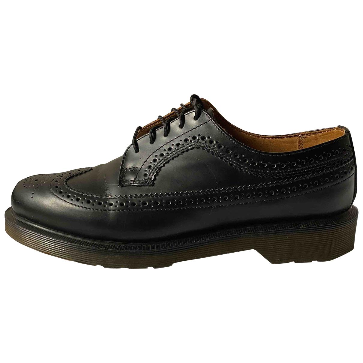 Dr. Martens - Derbies 3989 (Brogue) pour homme en cuir - noir
