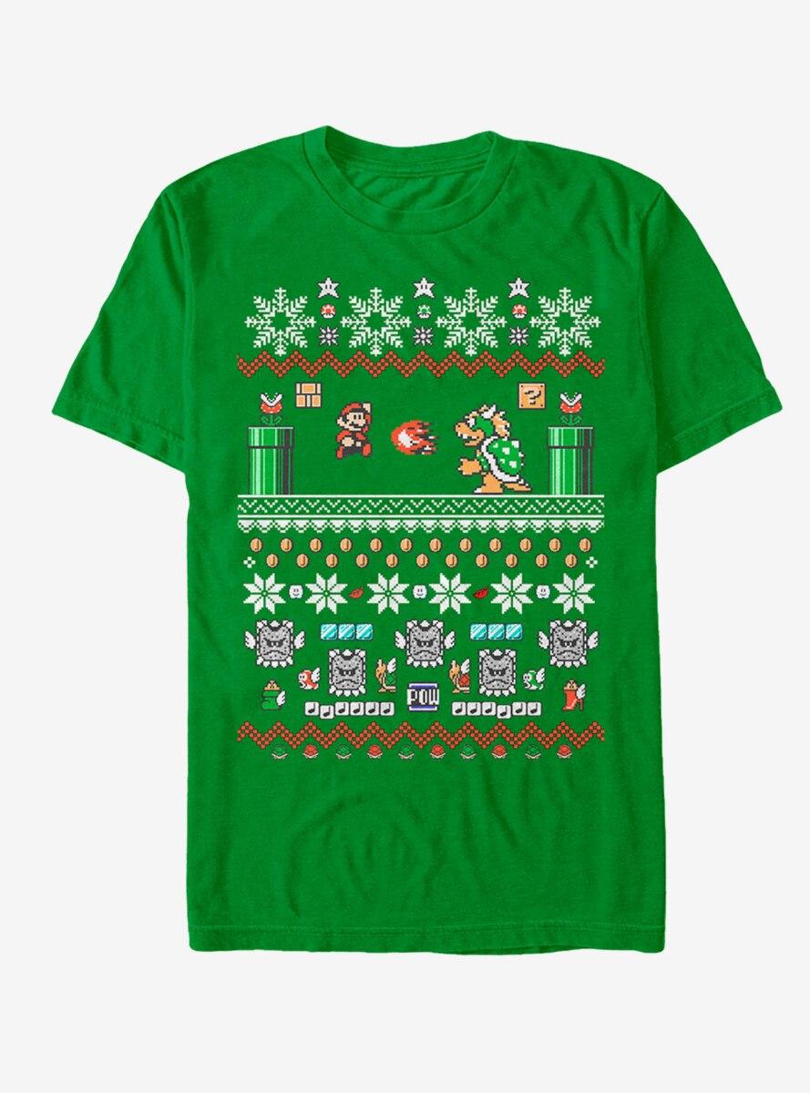Nintendo Mario and Bowser Ugly Christmas Sweater T-Shirt