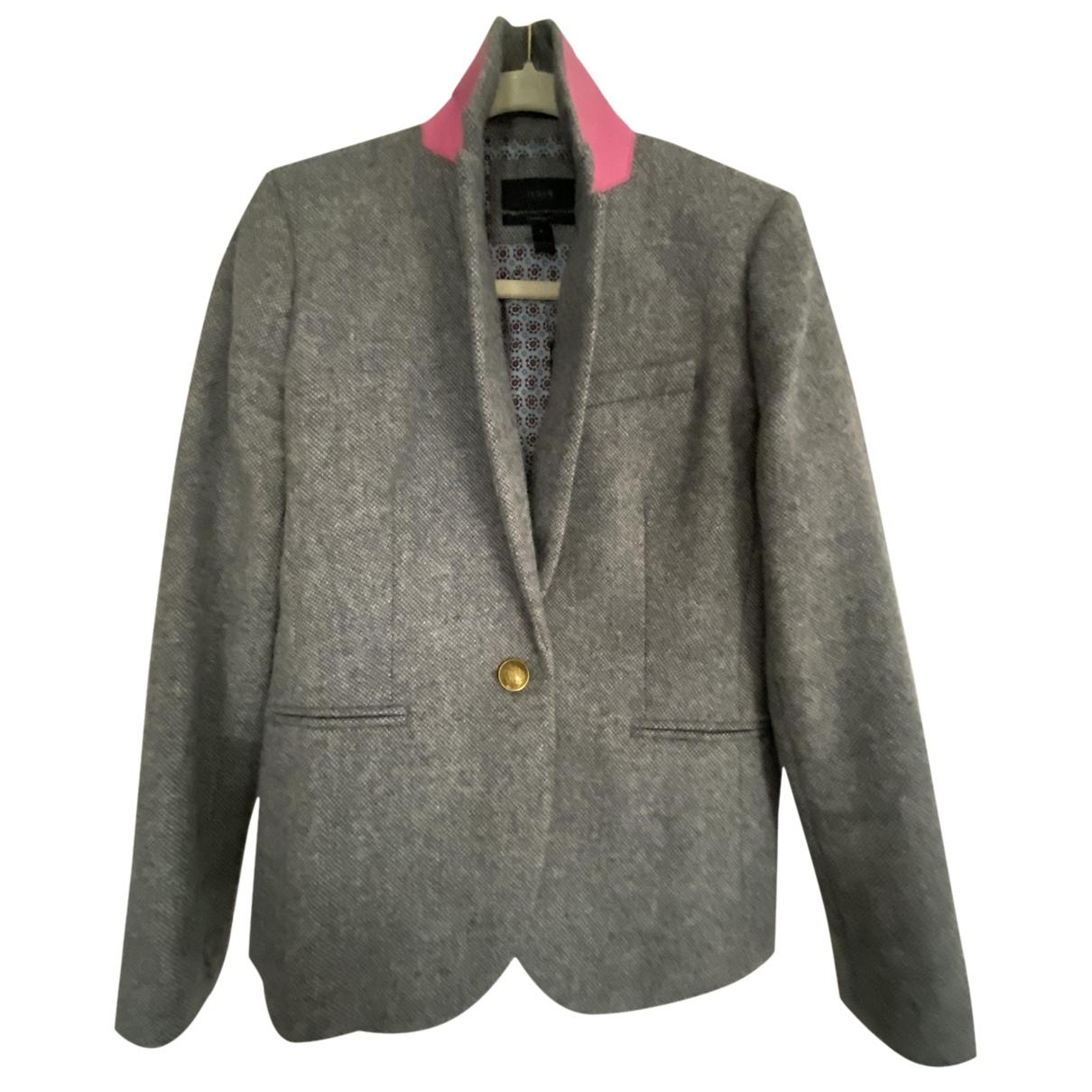 J.crew - Veste   pour femme en laine - gris