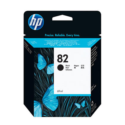 HP 82 CH565A Original Black Ink Cartridge