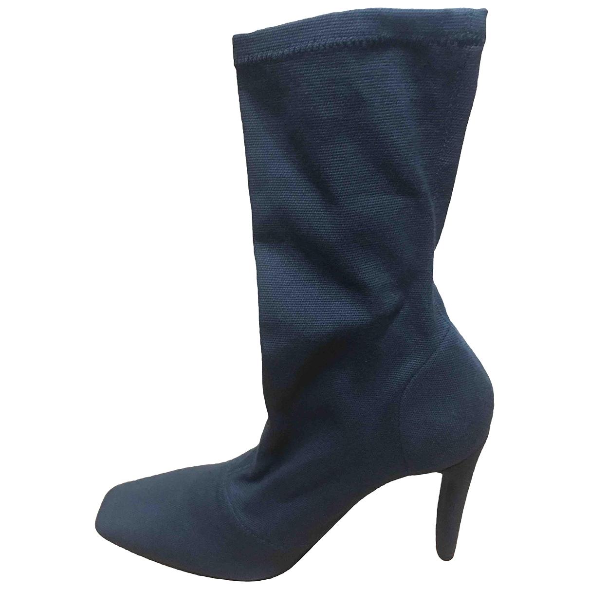 Yeezy - Boots   pour femme en cuir - noir