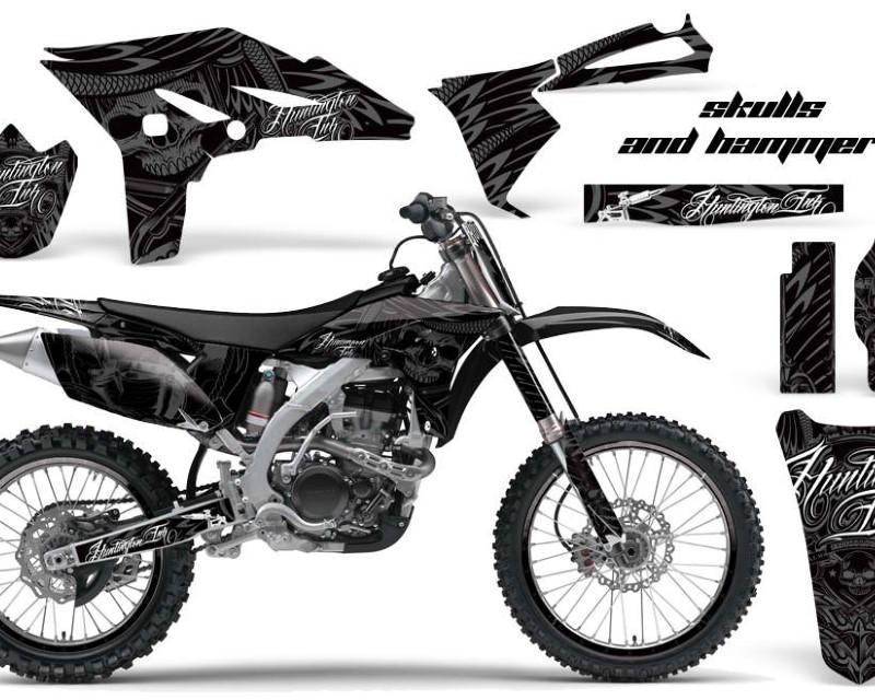 AMR Racing Graphics MX-NP-YAM-YZ250F-10-13-HISH S Kit Decal Sticker Wrap + # Plates For Yamaha YZ250F 2010-2013 HISH SILVER