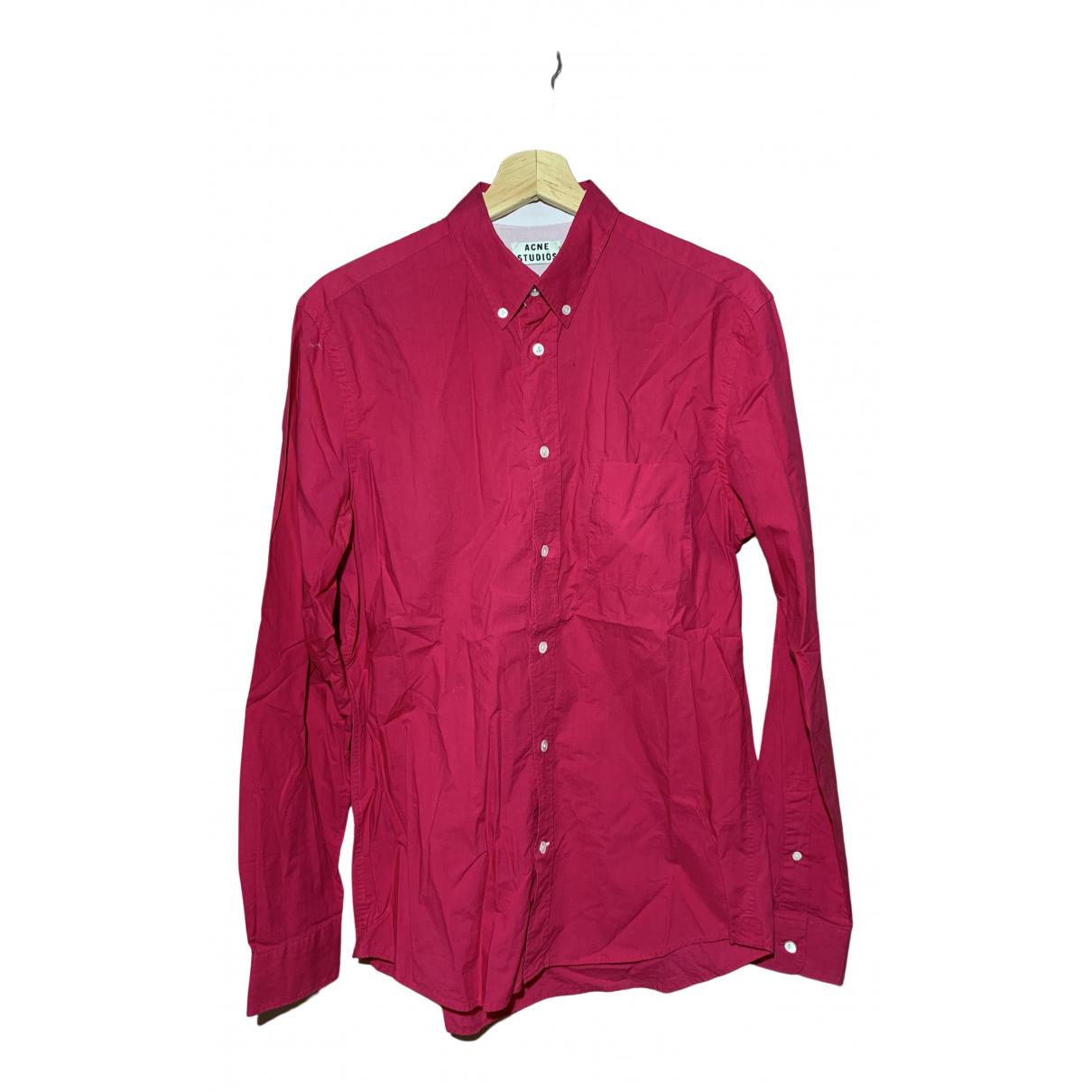 Acne Studios - Chemises   pour homme en coton - rose