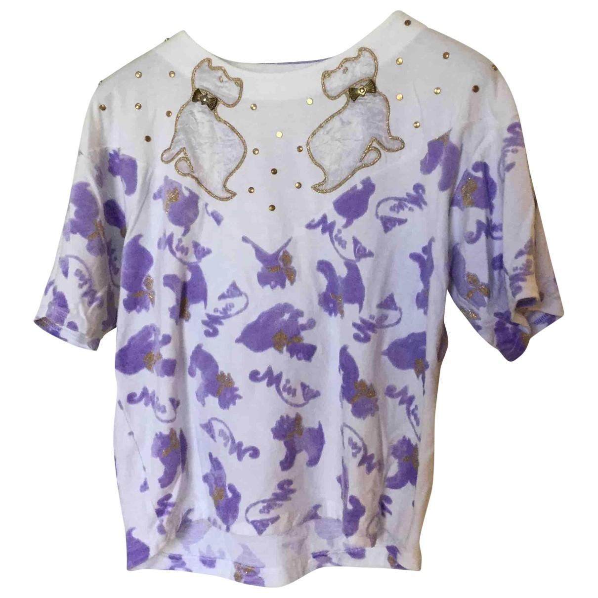 - Top Oversize pour femme en coton - violet