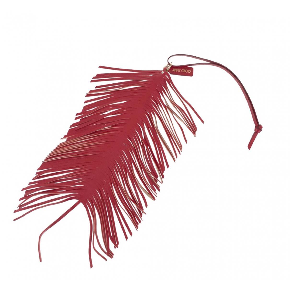 Jimmy Choo \N Taschenschmuck in  Rot Leder