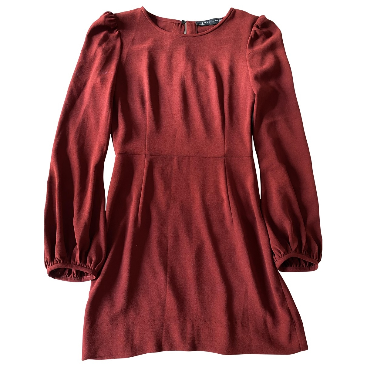 Zara \N Kleid in  Bordeauxrot Polyester