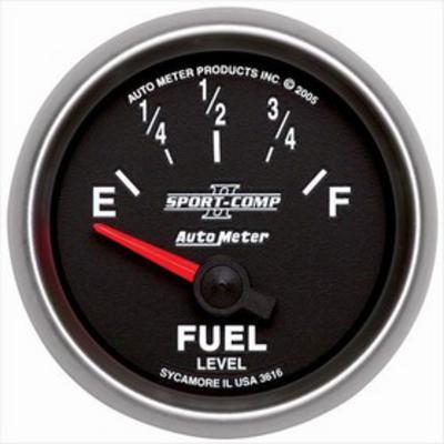 Auto Meter Sport-Comp II Electric Fuel Level Gauge - 3616