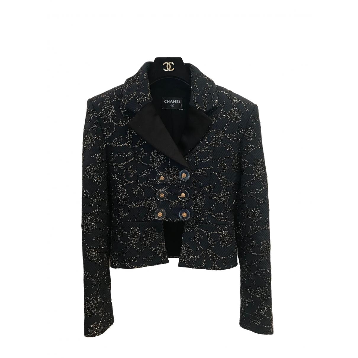 Chanel - Veste   pour femme en laine - bleu