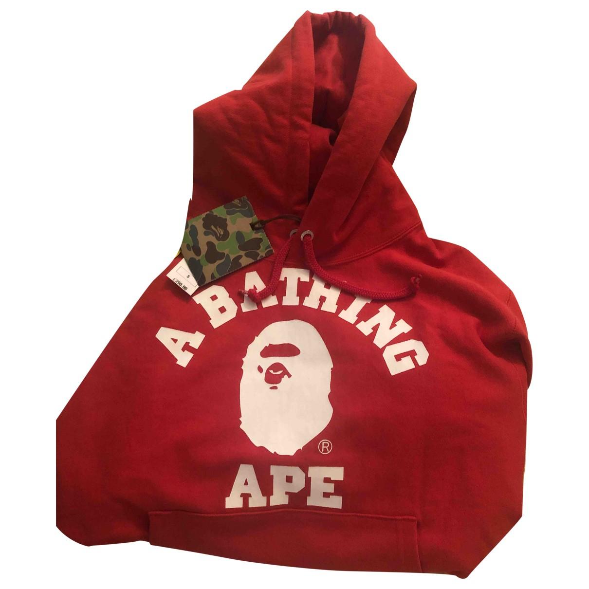 A Bathing Ape \N Pullover.Westen.Sweatshirts  in  Rot Baumwolle