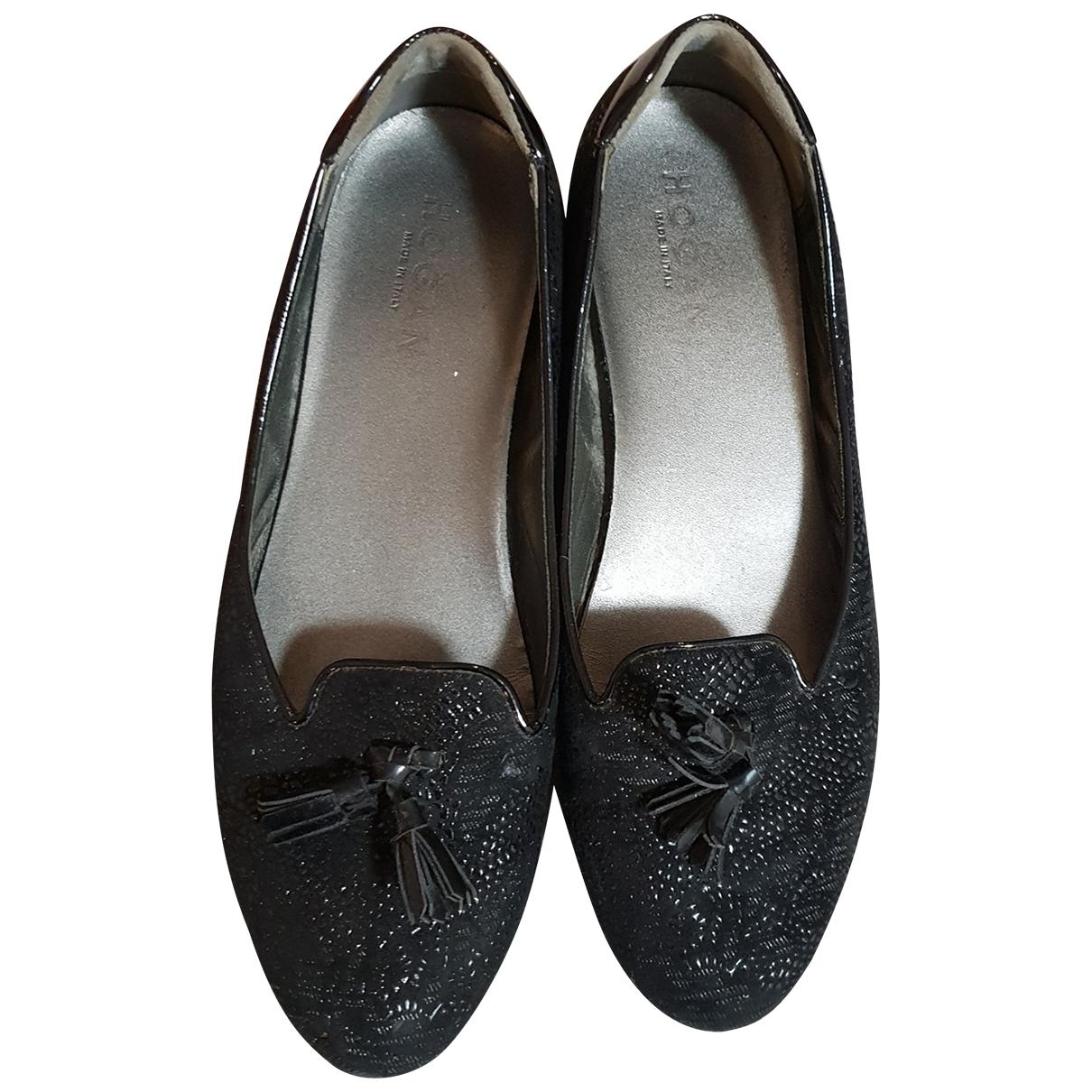 Hogan \N Ballerinas in  Schwarz Leder