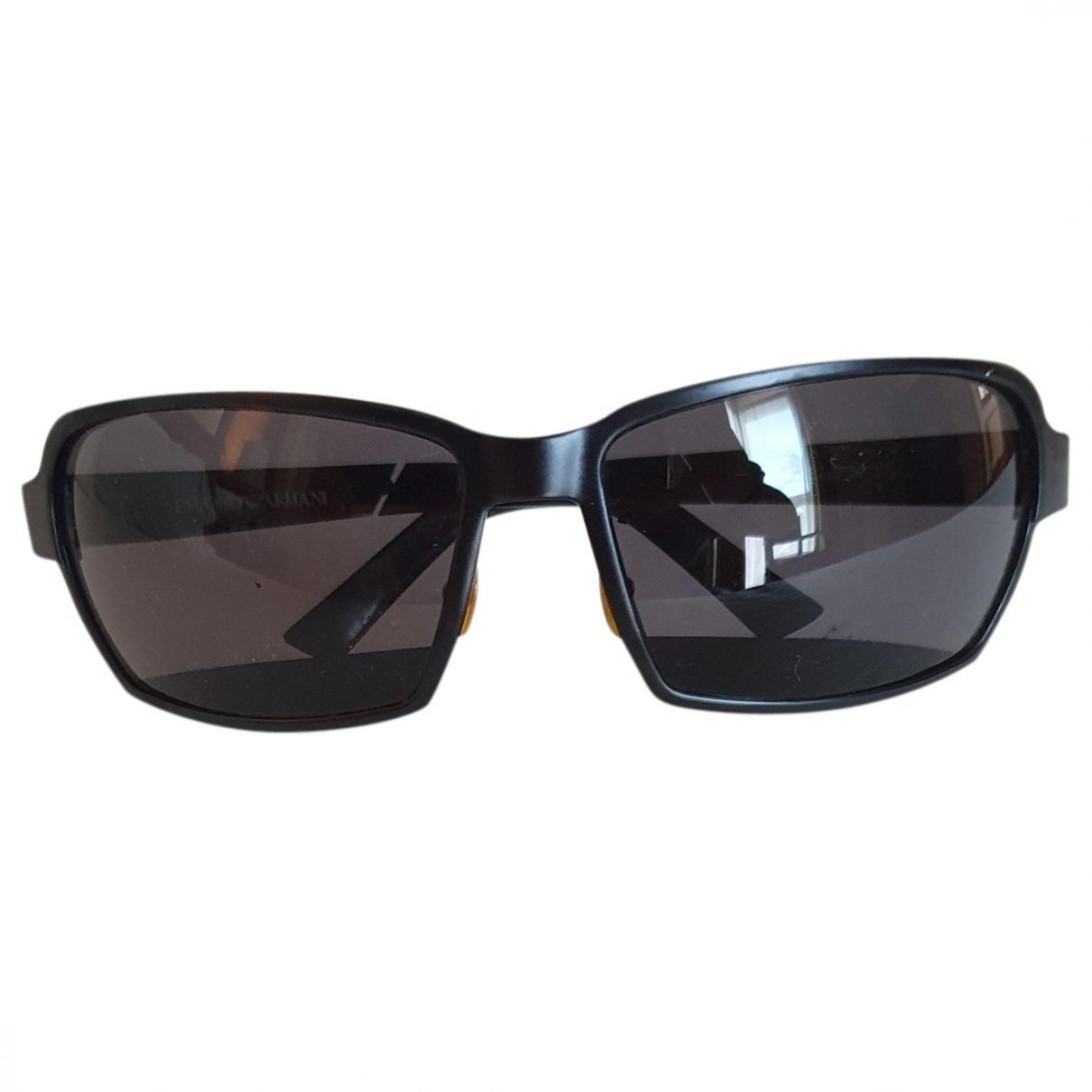 Emporio Armani \N Sonnenbrillen in  Schwarz Metall