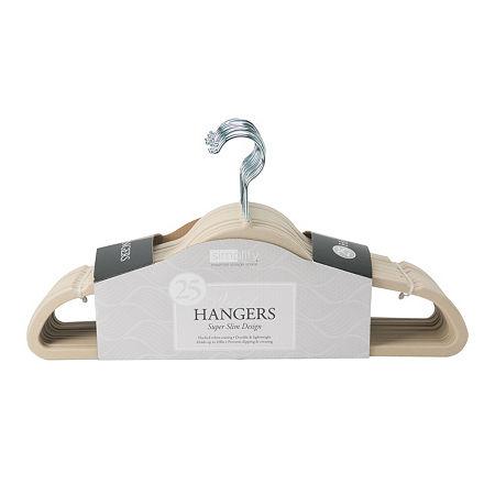 Velvet Suit Hangers - 25 Pack, One Size , White