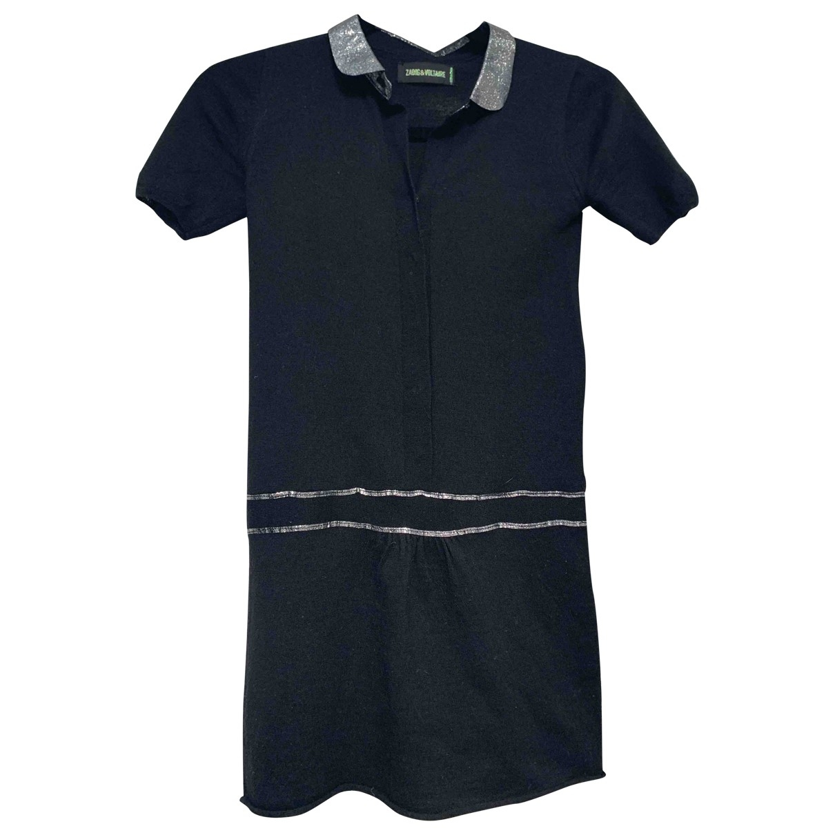 Zadig & Voltaire - Robe    pour enfant en laine - noir