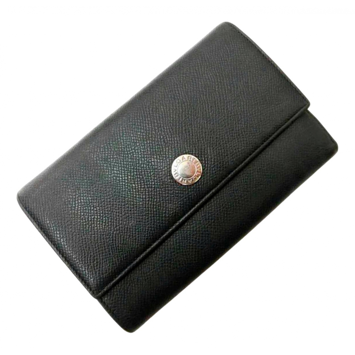 Bvlgari \N Portemonnaie in  Schwarz Leder