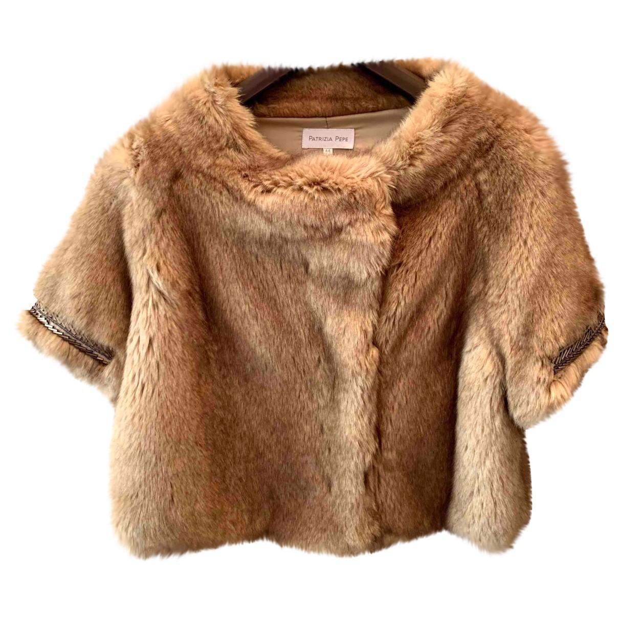 Patrizia Pepe \N Beige Faux fur coat for Women 44 IT