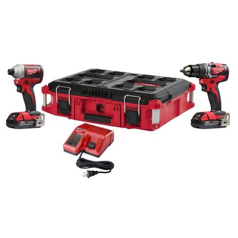 Milwaukee M18™ Drill Driver/Impact Brushless Packout™ CP Kit
