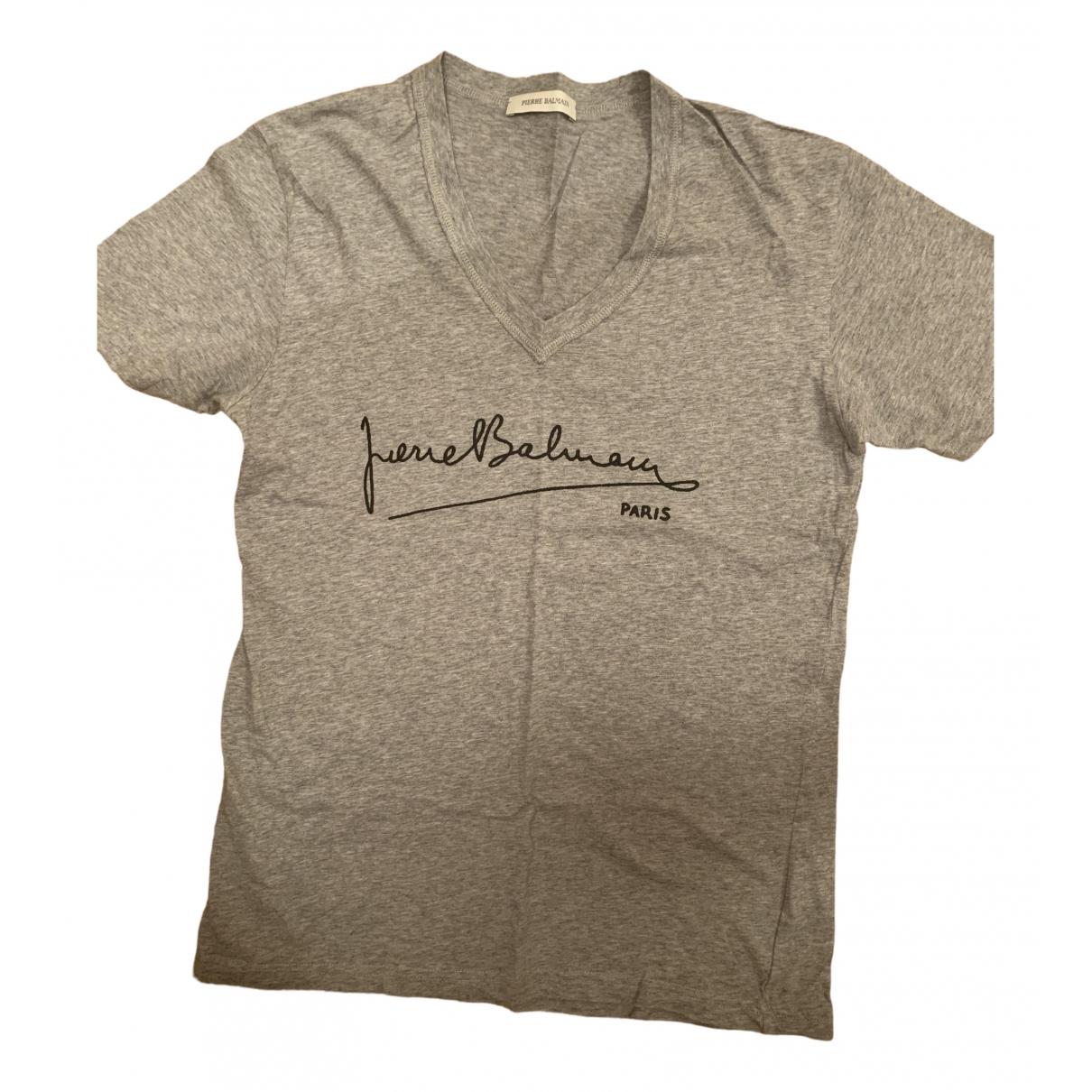 Pierre Balmain \N Grey Cotton T-shirts for Men M International