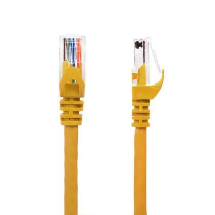 15pi câble réseau Ethernet Cat6 550MHz UTP 24AWG RJ45 - jaune - PrimeCables® - 1/paquet