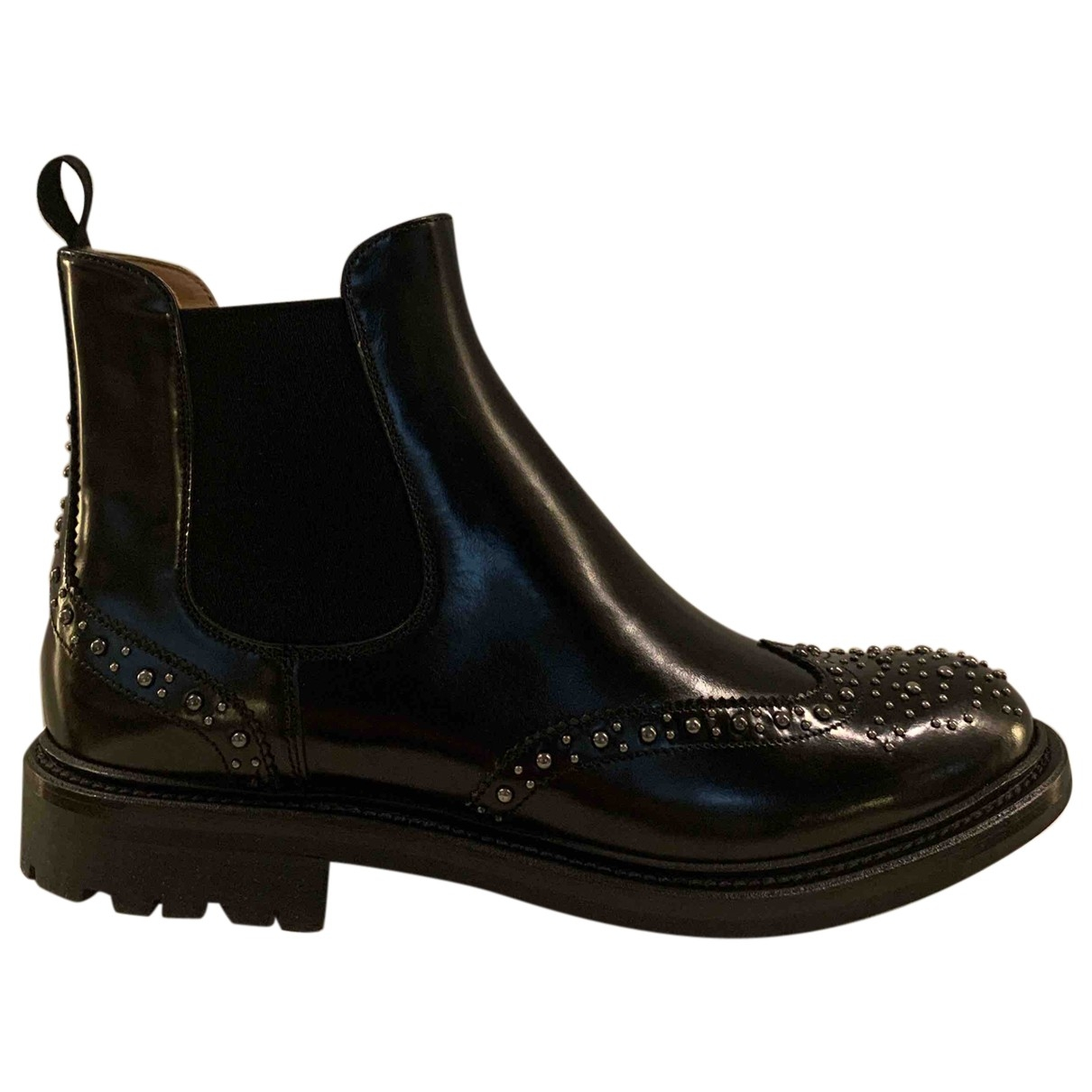 Church's \N Black Leather Ankle boots for Women 39 IT