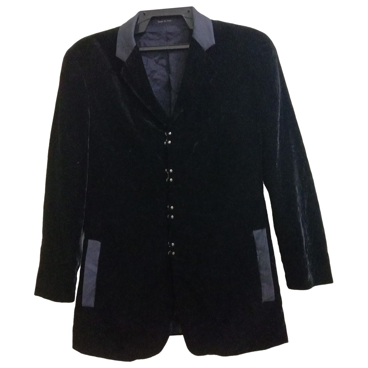 Emporio Armani - Veste   pour femme en velours - noir