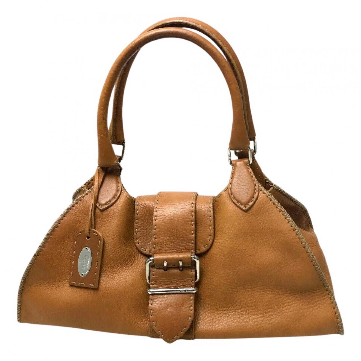 Fendi N Camel Leather handbag for Women N