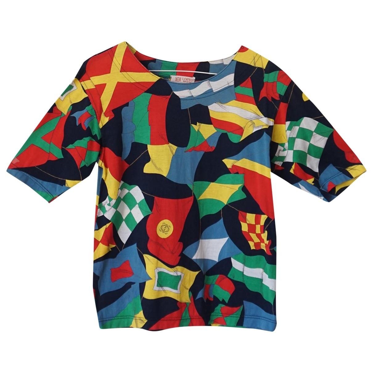 Loewe - Top   pour femme en coton - multicolore