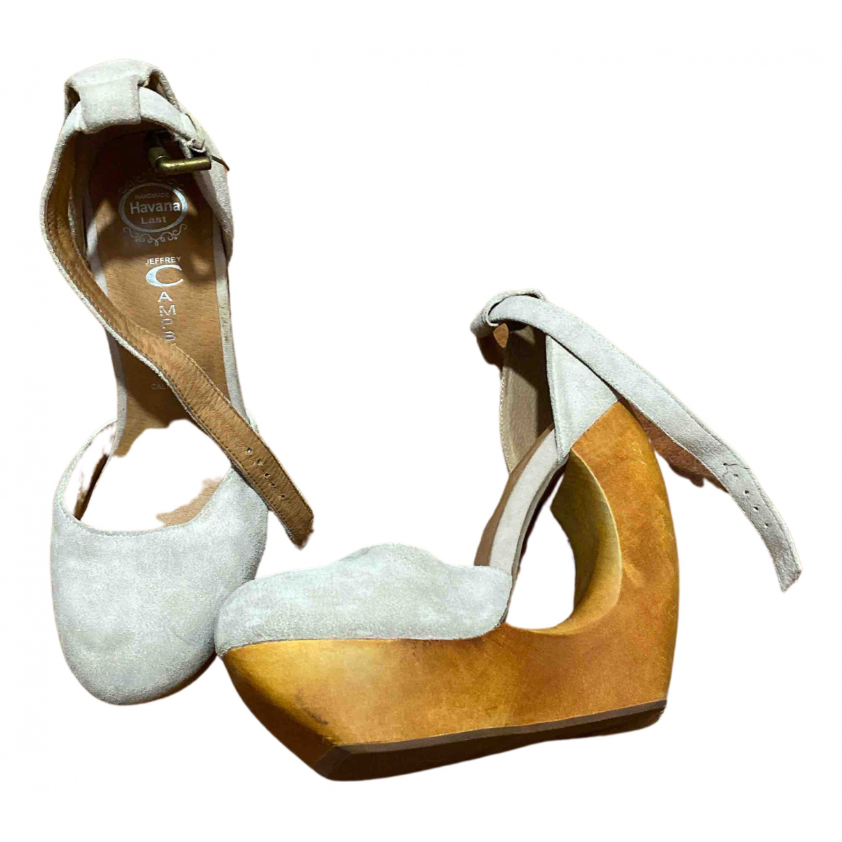 Jeffrey Campbell N Beige Suede Sandals for Women 38 EU