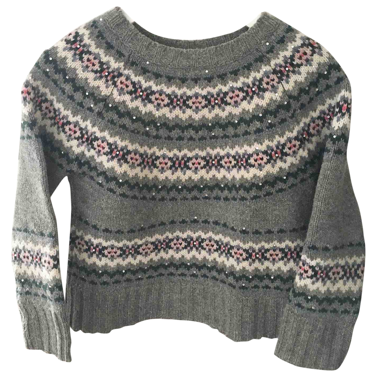Bonpoint \N Grey Wool Knitwear for Kids 6 years - up to 114cm FR