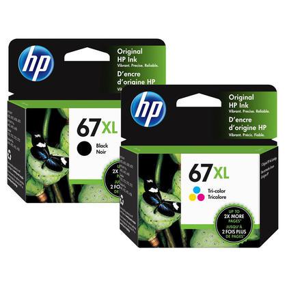 HP 67XL 3YM57AN 3YM58AN cartouche d'encre originale combo noire et tri-couleur haute capacité