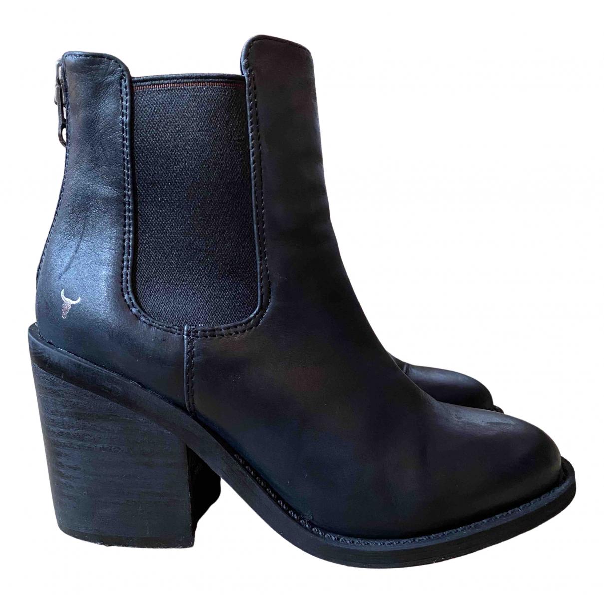 Windsor Smith \N Stiefel in  Schwarz Leder