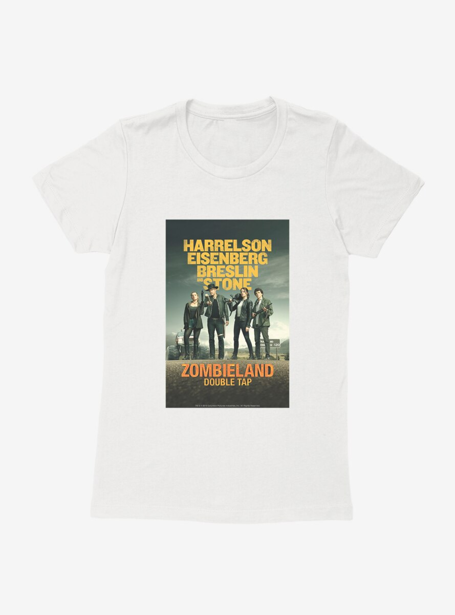 Zombieland: Double Tap Movie Poster Womens T-Shirt