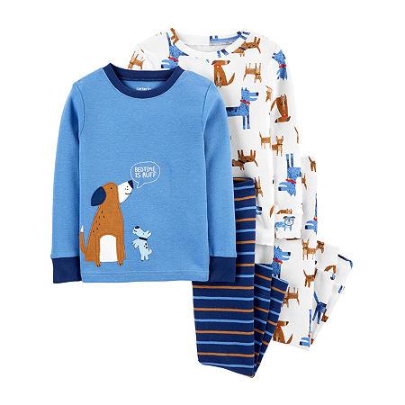 Carter's Toddler Boys 4-pc. Pajama Set, 4t , Beige