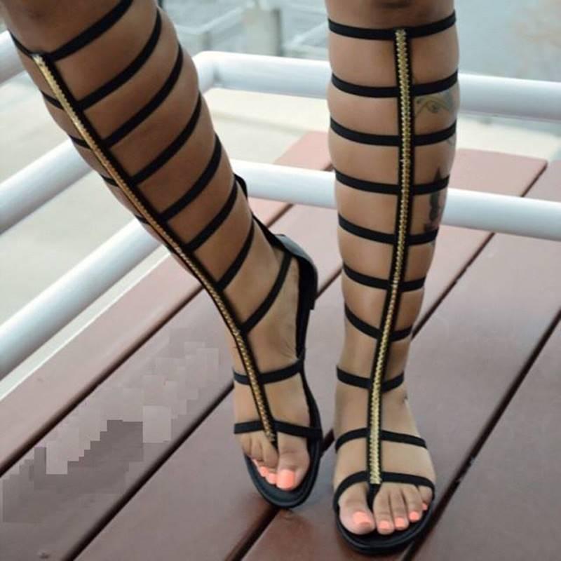 Ericdress Unique Black Hollow-outs Flat Sandals