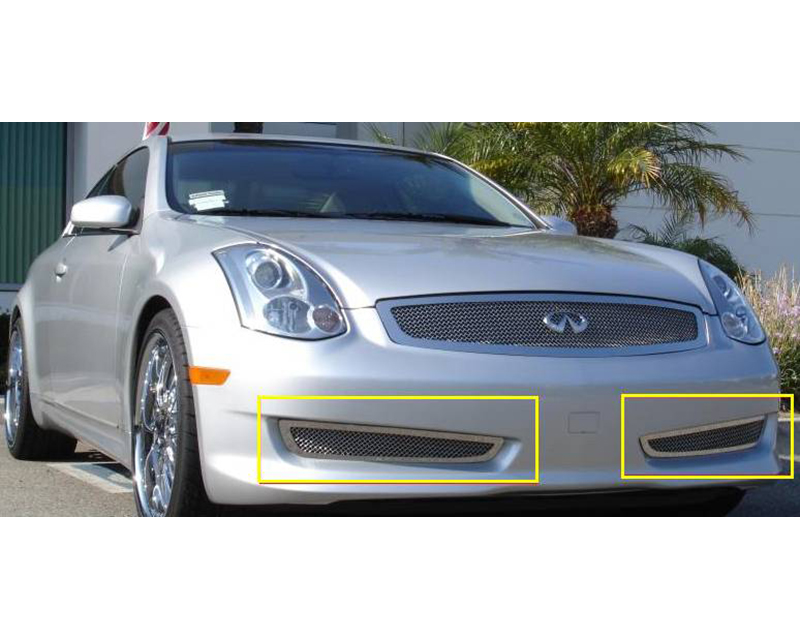 2006-2007 Infiniti G-37 Coupe Sport Upper Class Bumper Grille, Polished, 2 Pc, Overlay - PN #55794