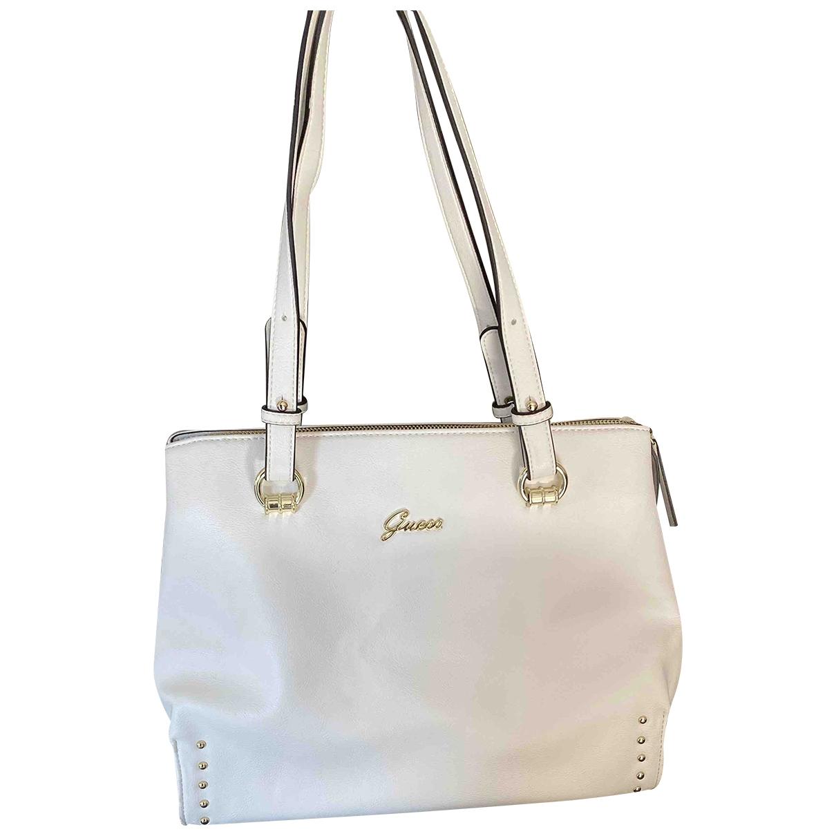 Guess \N White Leather handbag for Women \N