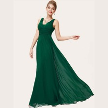 Maxi Kleid mit Raffung und Empire Taille
