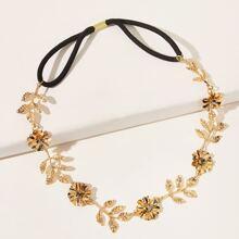 Stirnband mit Metall Blumen Dekor