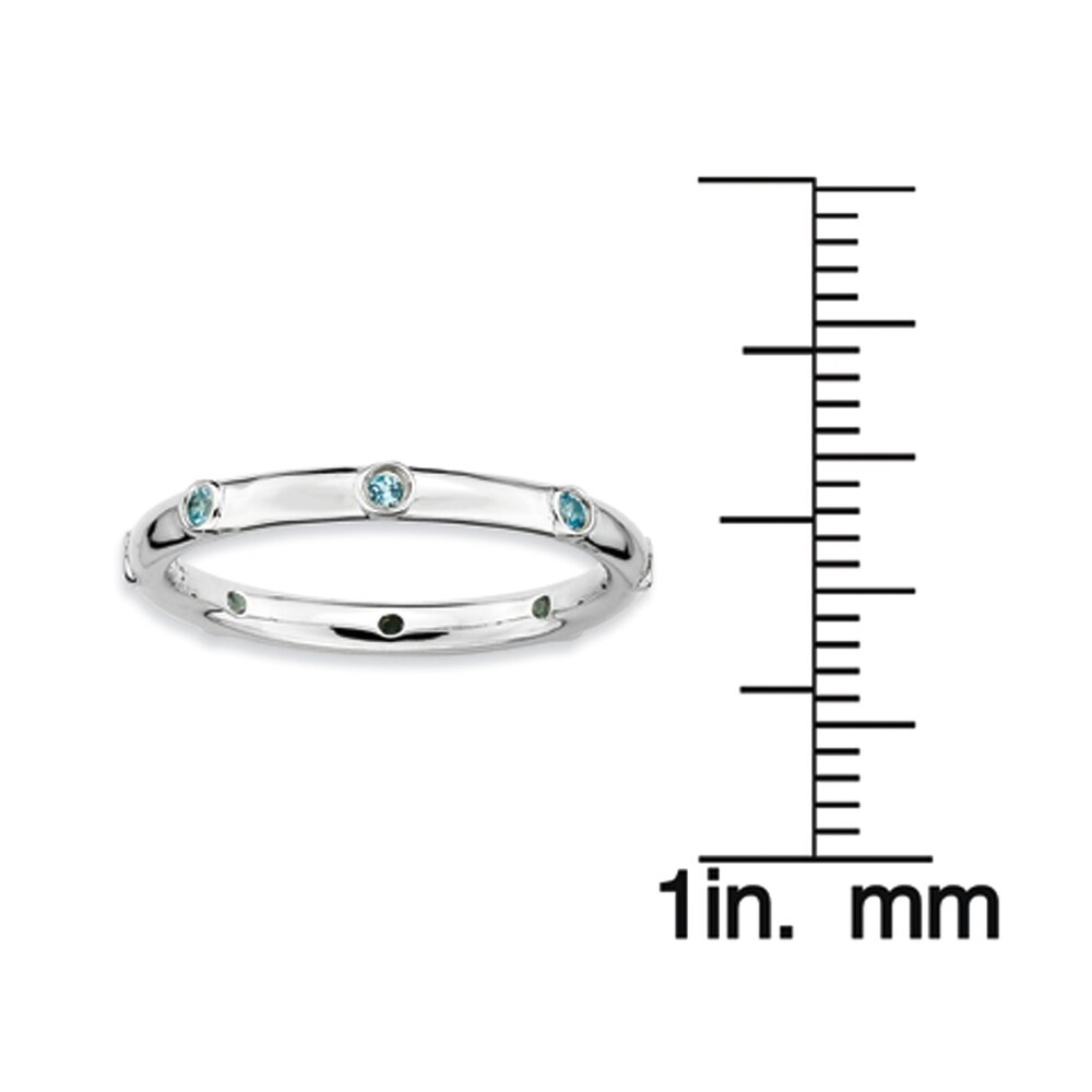 Sterling Silver Affordable Expressions Blue Topaz Ring (10)