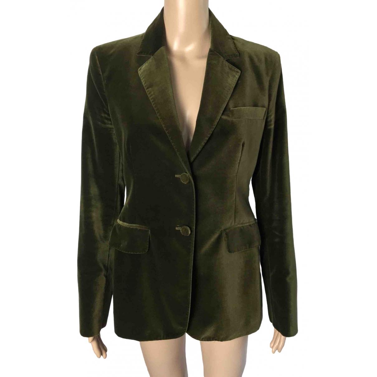 Loro Piana \N Green Cotton jacket for Women 42 IT