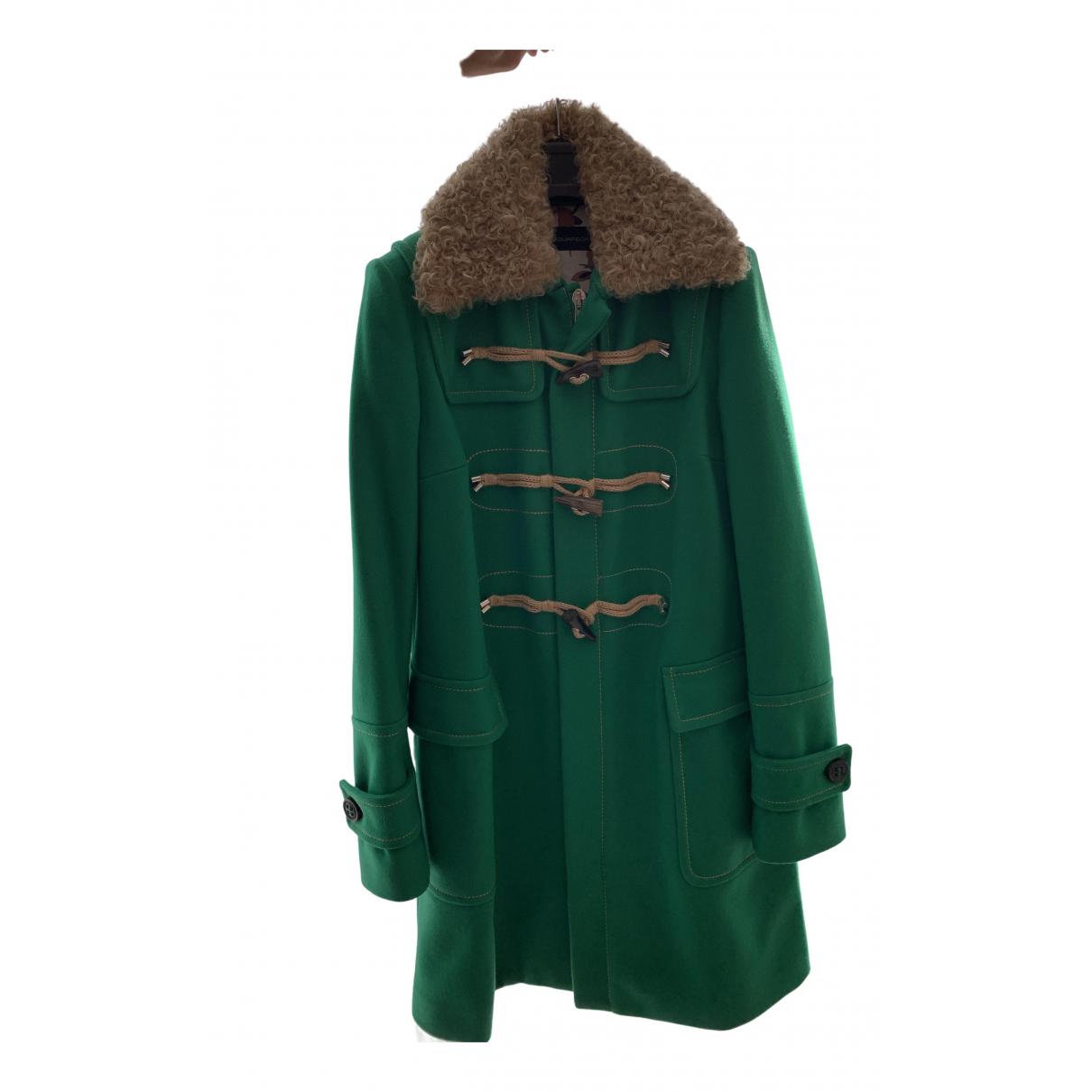 Dsquared2 - Manteau   pour femme en laine - vert