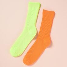 Guys Neon Socks 2pairs