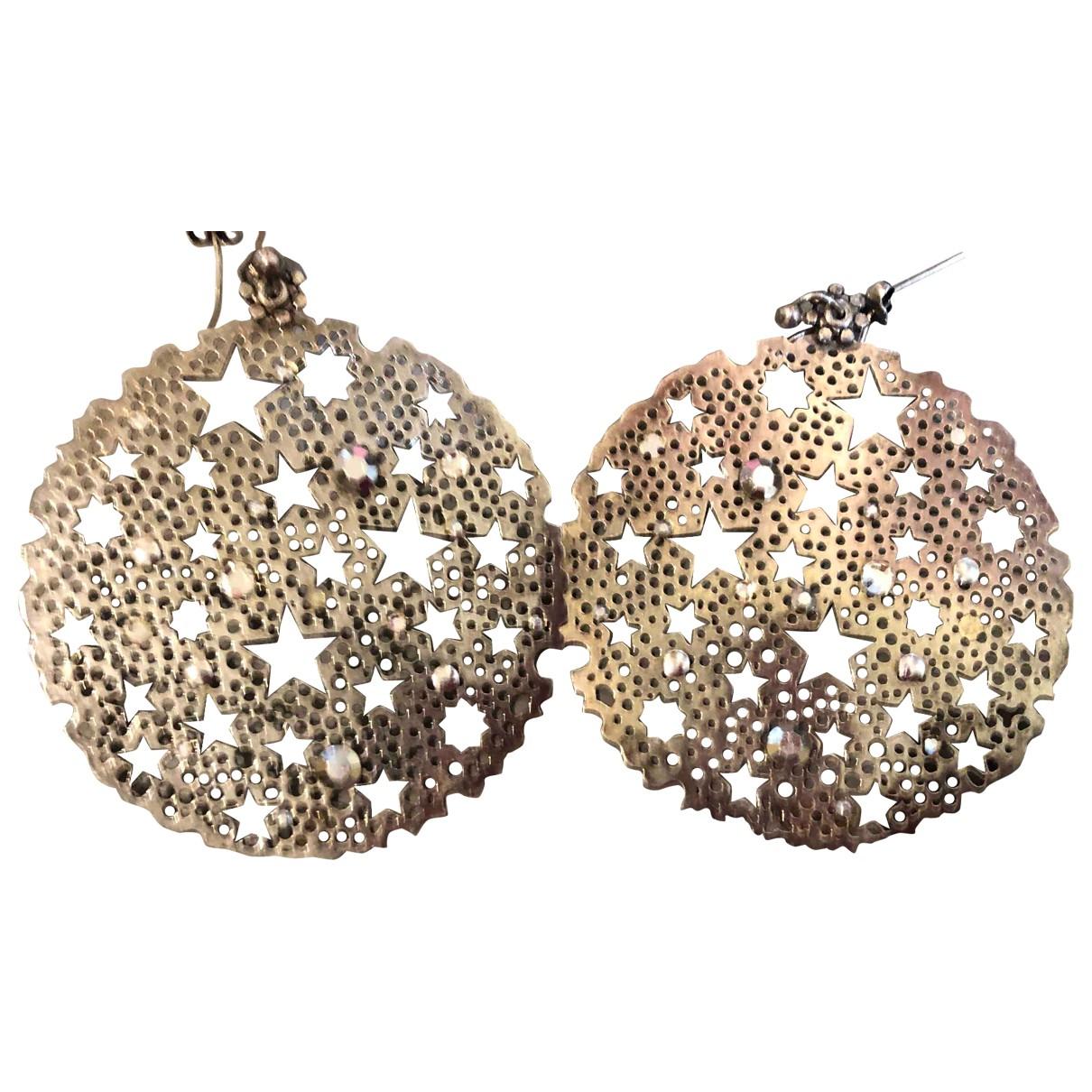 Gas Neige & Flocon Yellow Metal Earrings for Women N
