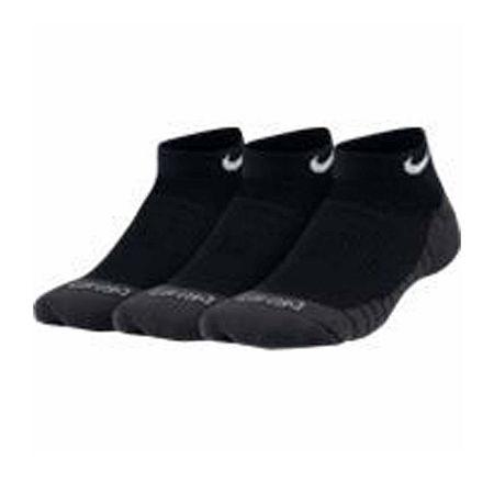 Nike Big Boys 3 Pair No Show Socks, 7-8.5 , Black