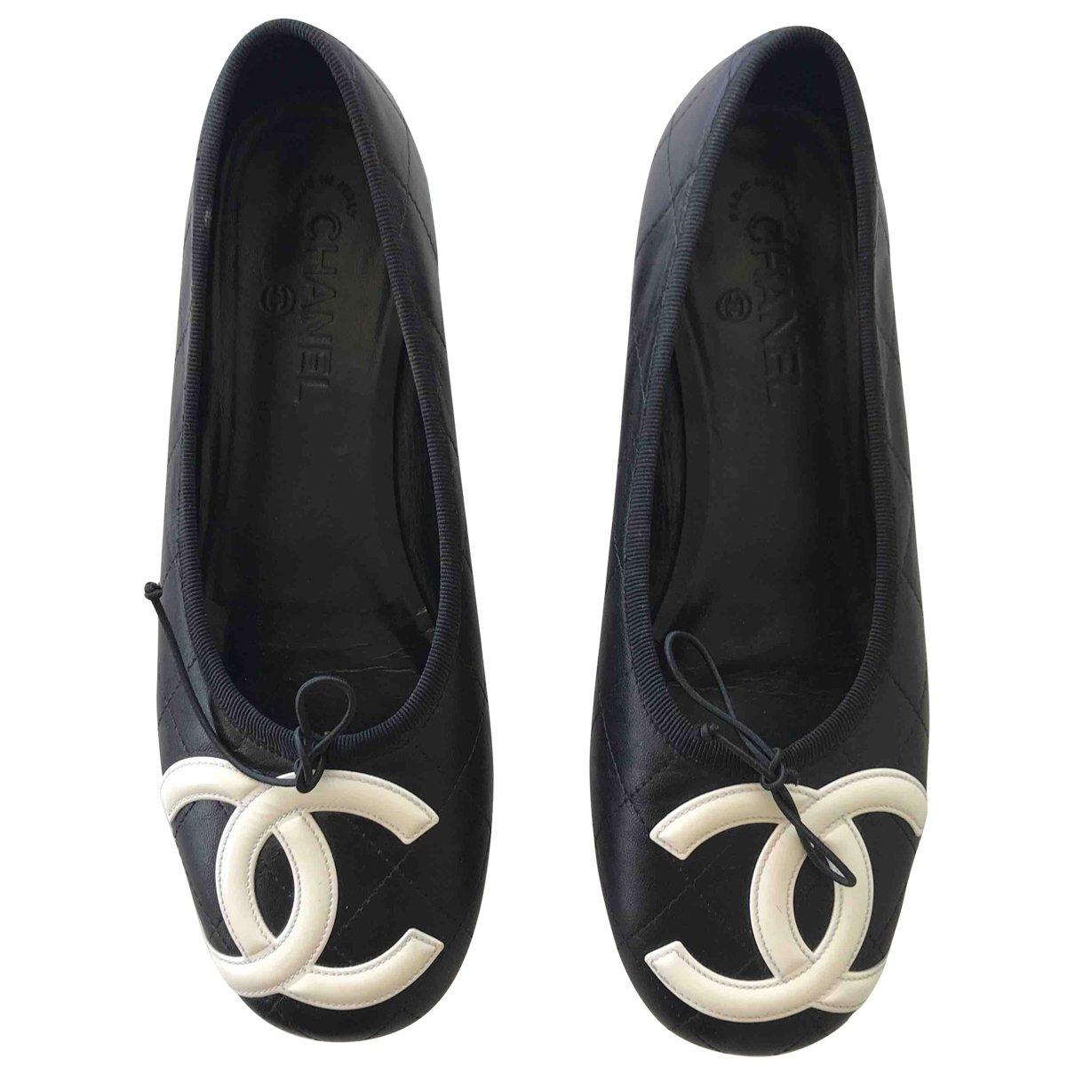 Chanel \N Black Leather Ballet flats for Women 40 EU