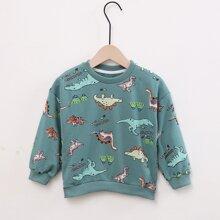 Toddler Boys Dinosaur Print Sweatshirt