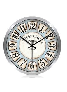 European Style Retro Arabic Numerals Metal Wall Clock
